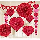 Amscan - Kit de papel para decoración de San Valentín, talla única, color rojo