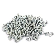 uxcell M3x6mm Phillips Round Head Self Tapping Screws Fastener 100pcs