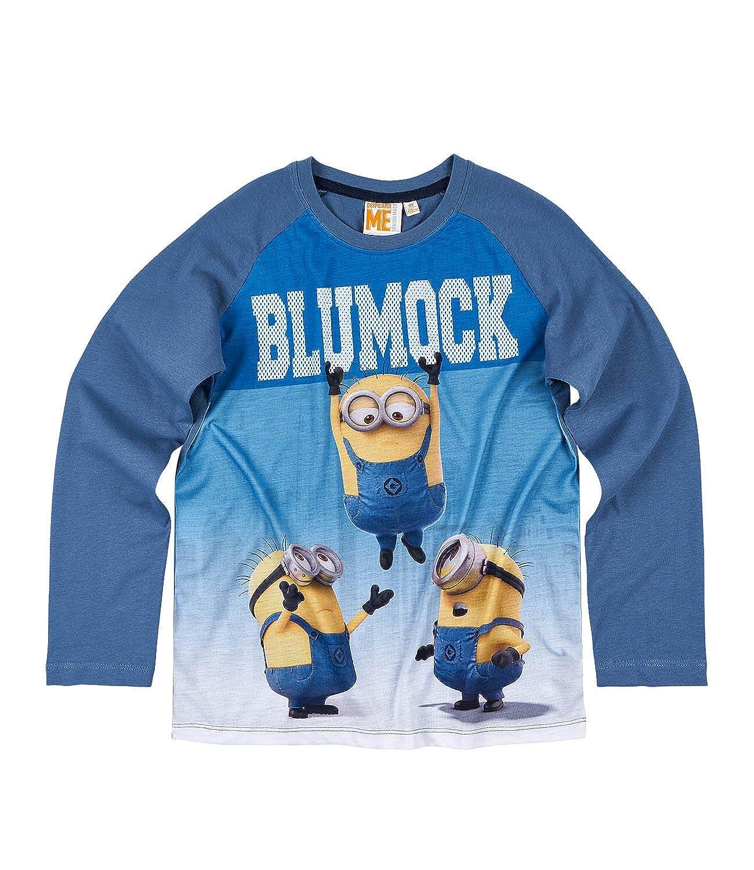 9687987a16270 MINIONS Despicable Me Garçon Tee-Shirt Manches Longues - Bleu  Amazon.fr   Vêtements et accessoires