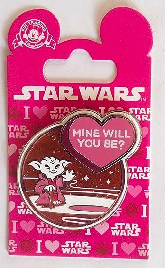 Disney Pin Yoda Valentine   Mine Will You Be? Star Wars Pin