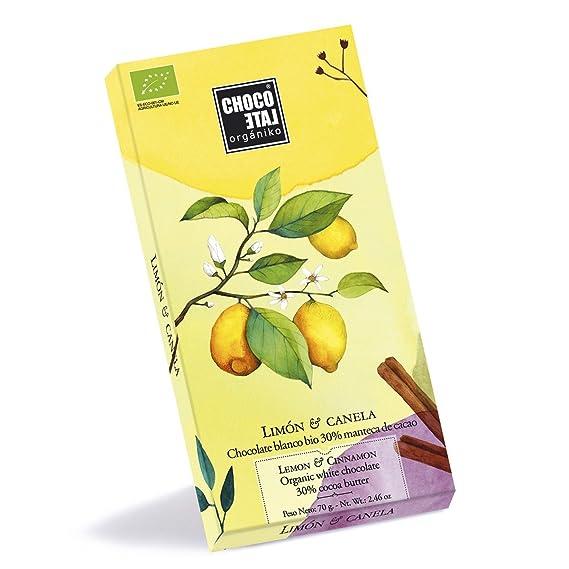 Chocolate con Leche 30% Cacao con Limón y Canela 70gr