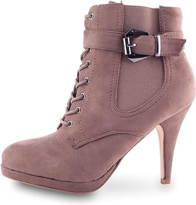 Chaussures Boots Lacets Femme Ankle pour Boots Boots Chelsea XwOkPZTiu