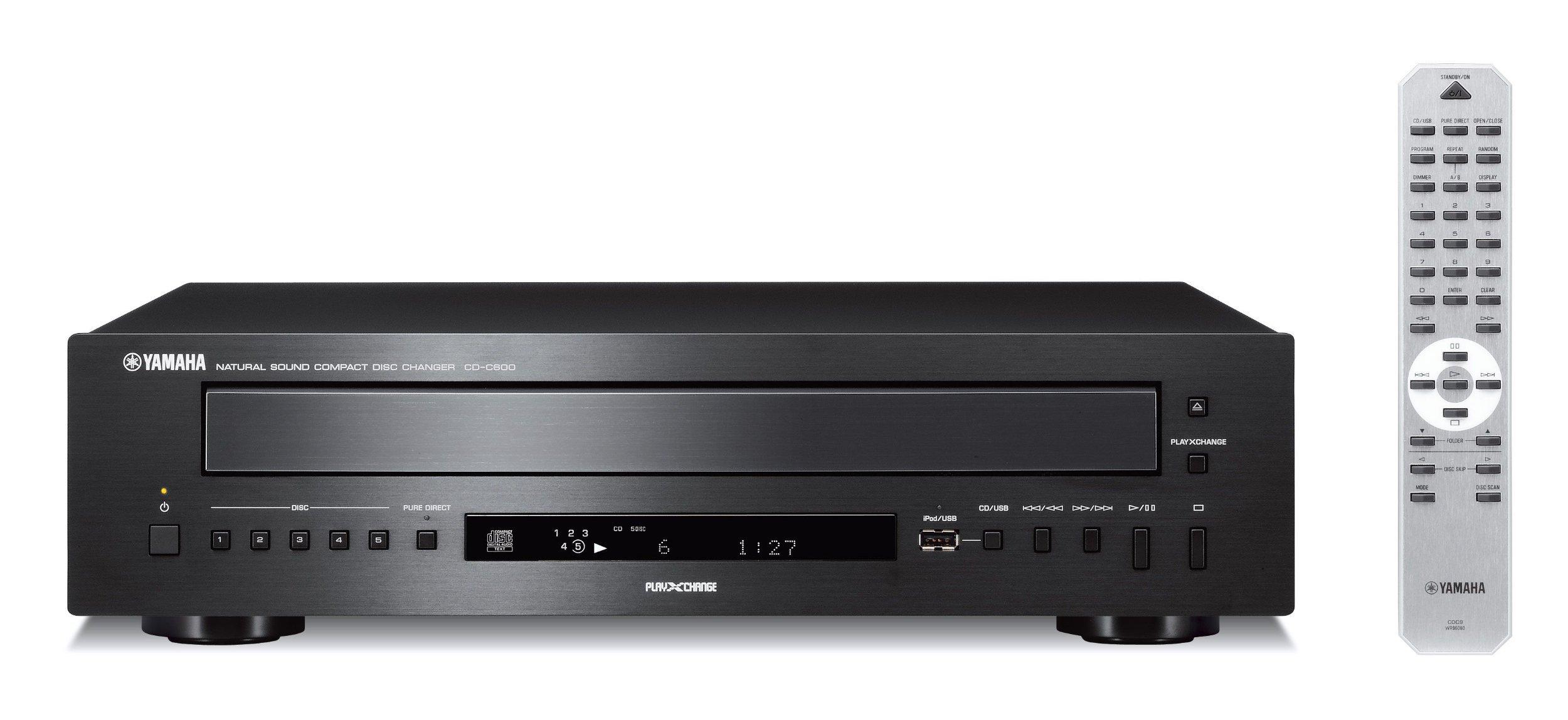 Yamaha CD-C600BL 5-Disc CD Changer Black (Renewed) by Yamaha Audio