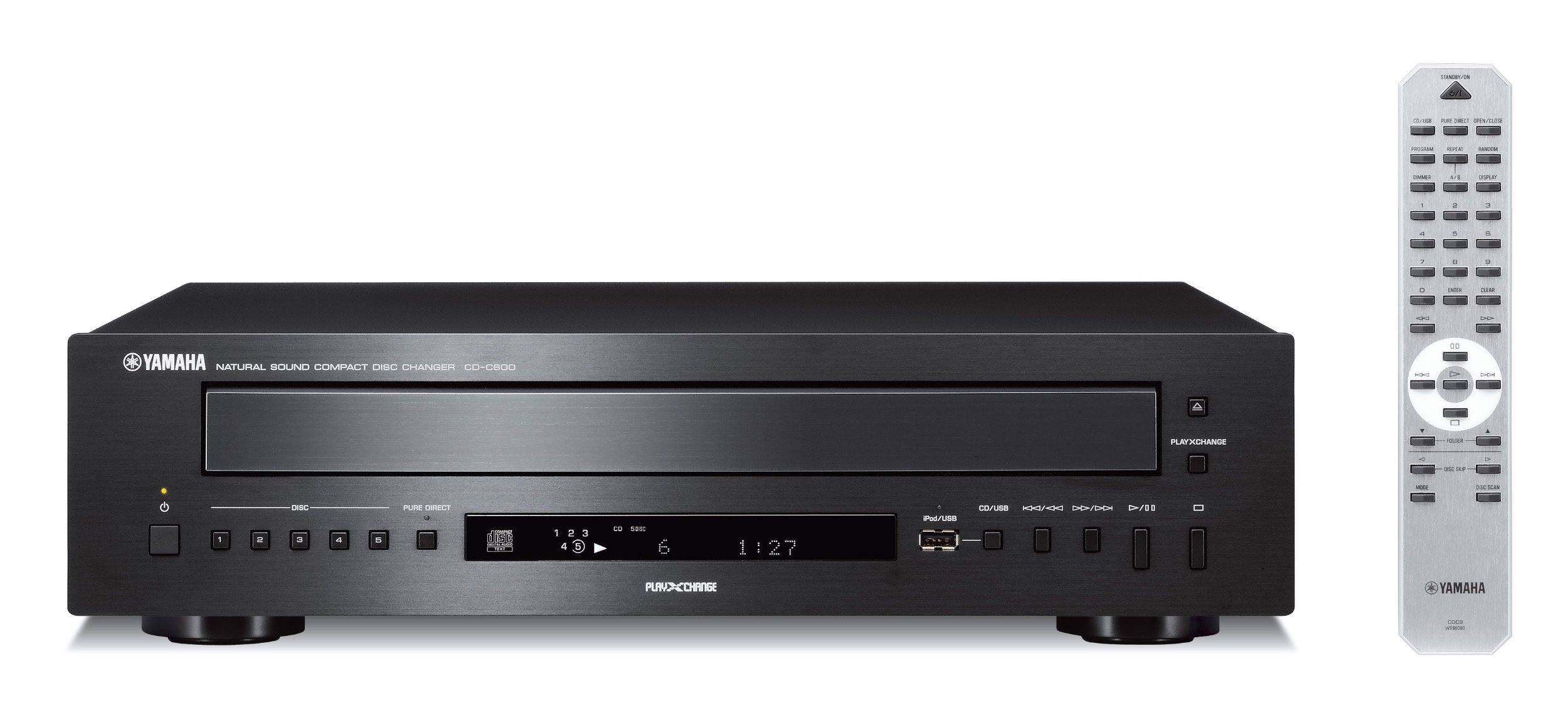 Yamaha CD-C600BL 5-Disc CD Changer Black (Renewed)