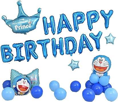 El Feliz Cumpleaños Hincha La Bandera Del Cumpleaños Del Globo Con La Bandera Del Feliz Cumpleaños