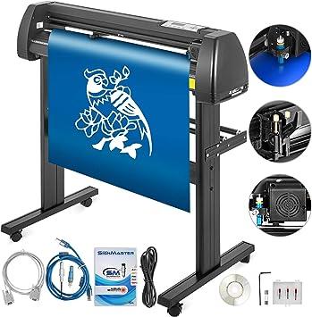 Bisujerro 870mm Plóter de Corte 34 Pulgadas Máquina de Plotter Plóter Máquina para Hacer Signo con Escáner Signmaster Software Cutter Plotter (870mm): Amazon.es: Electrónica