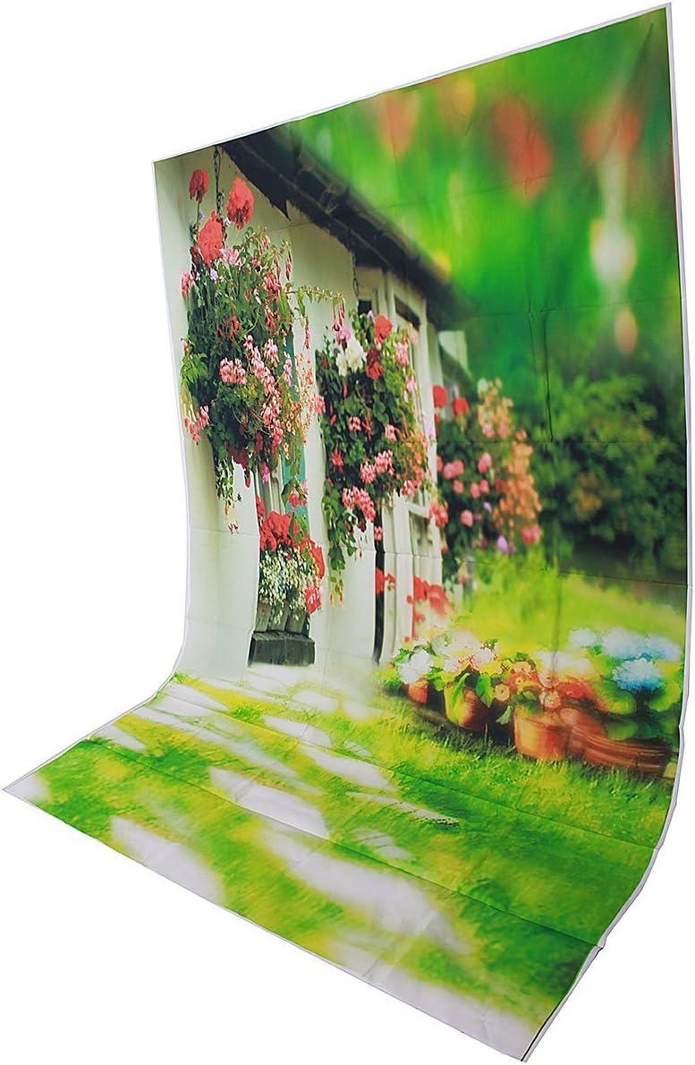 1.5x2.1m 5x7ft Green Window Wedding Vinyl Studio Photography Backdrop Props Background
