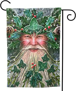 PIELAPA Yule Spirit Tree Yuletide Pagan Christmas Welcome Flag Outdoor Outside Holiday Party Decorations Ornament Home House Garden Yard Decor Double Sided 12.5 X 18 Small 28 X 40 Jumbo Large