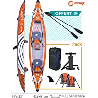 Inflatable Kayak 2 persons 100% Drop Stitch Zray DRIFT 426x81cm