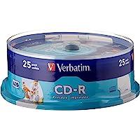 Verbatim CD-R AZO 700 MB - 52 keer brandsnelheid, bedrukbaar, krasbescherming, 25 Pack Spindle