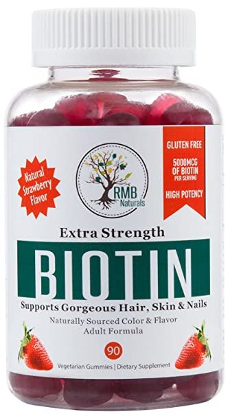 Amazon Com Biotin Gummy Hair Vitamins For Healthy Hair Skin