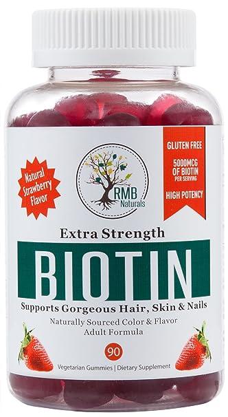Amazon.com: Biotin Gummy Hair Vitamins for Healthy Hair, Skin ...