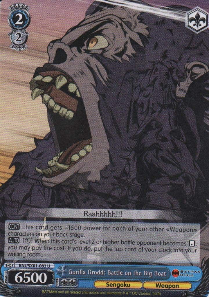 Amazon.com: Weiss Schwarz - Gorilla Grodd: Battle on The Big ...