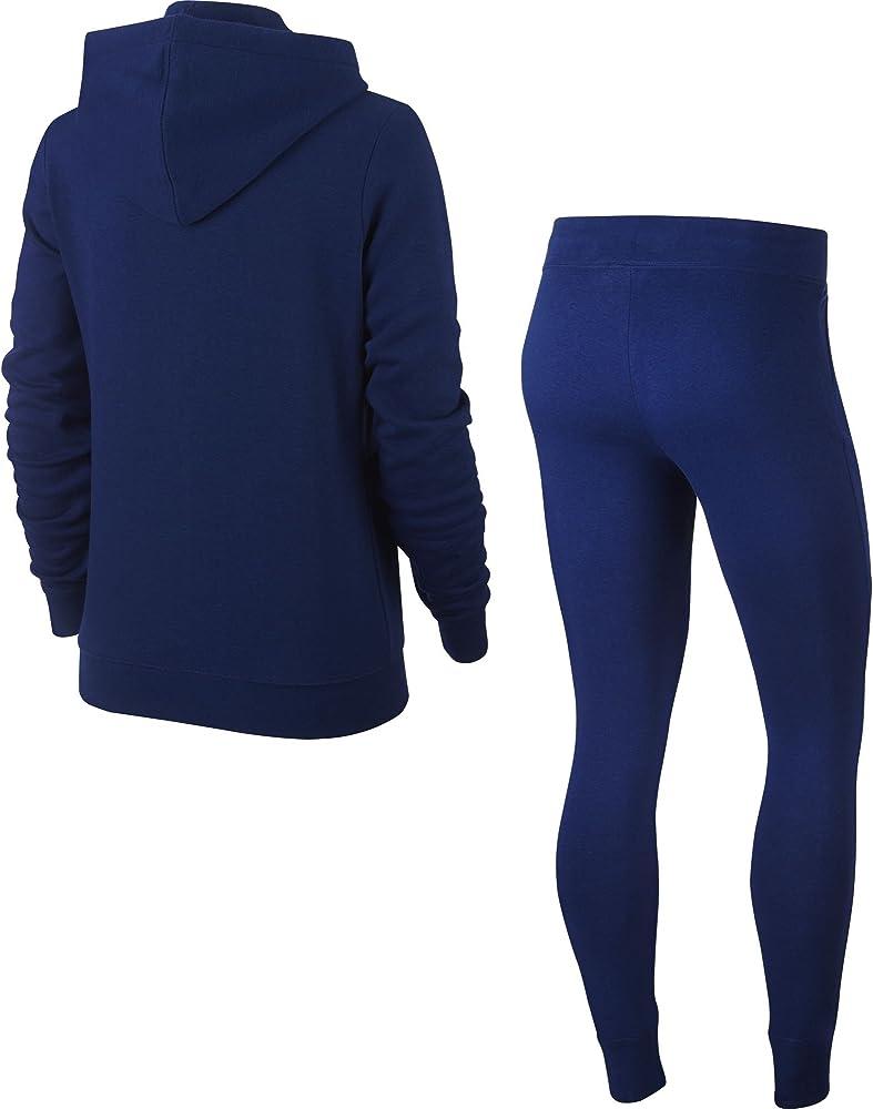 Nike W NSW TRK FLC Chándal, Mujer, Azul (Blue Void/White), XS ...