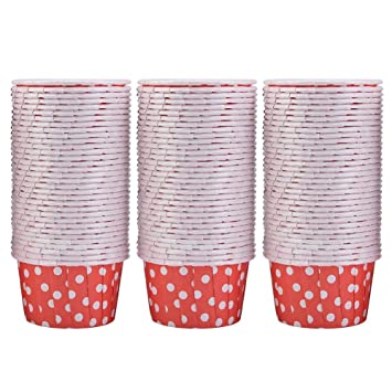 FTVOGUE 100 UNIDS Mini Cupcake Liners Paper, Moldes para Pastel Redondo Resistente al Calor de Calidad Alimentaria Tazas para Hornear Muffins(01): ...