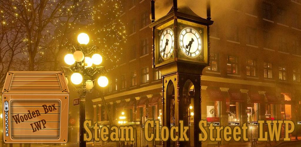 Amazoncom Steam Clock Street Live Wallpaper Appstore For