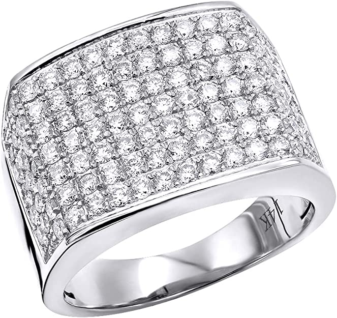 Details about  /Diamond Pinky Ring Men/'s 14k Yellow Gold Finish Round Cut Wedding Band 2.50 CT