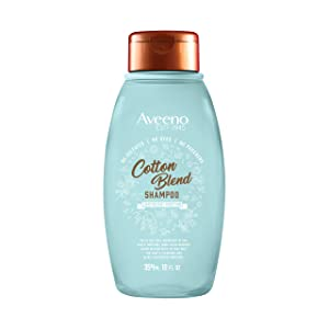 Aveeno Cotton Blend Sulfate-Free Shampoo for Light Moisture & Soothed Scalp, Gentle Cleansing Shampoo with Nourishing Oat, Paraben- & Dye-Free, 12 fl. oz
