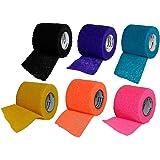 Vetrap 3M Bandaging Tape 2-inch x 5-yards, Random Colors, 6 Rolls