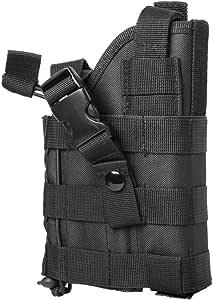 M1SURPLUS MOLLE Style Black Tactical Pistol Holster - Fits SIG P229 P226 P250 P320 SP2022 Mosquito Colt 1911 CZ-P10 Remington RP9 Springfield XD Full Size Pistols