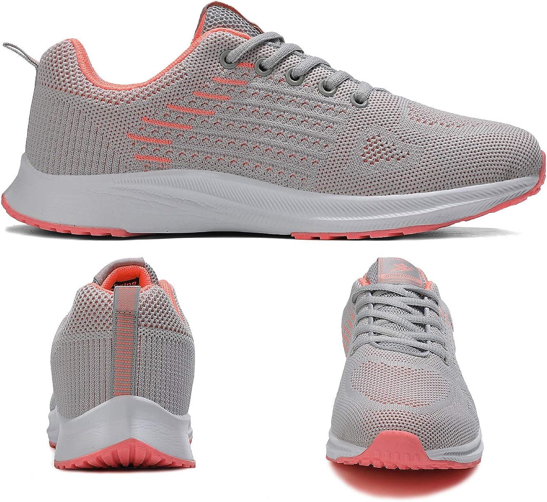 AX BOXING Baskets Homme Femme Chaussure de Sport Sneakers Running Respirantes Athlétique Courtes Fitness Tennis 41-46 Gris Orange