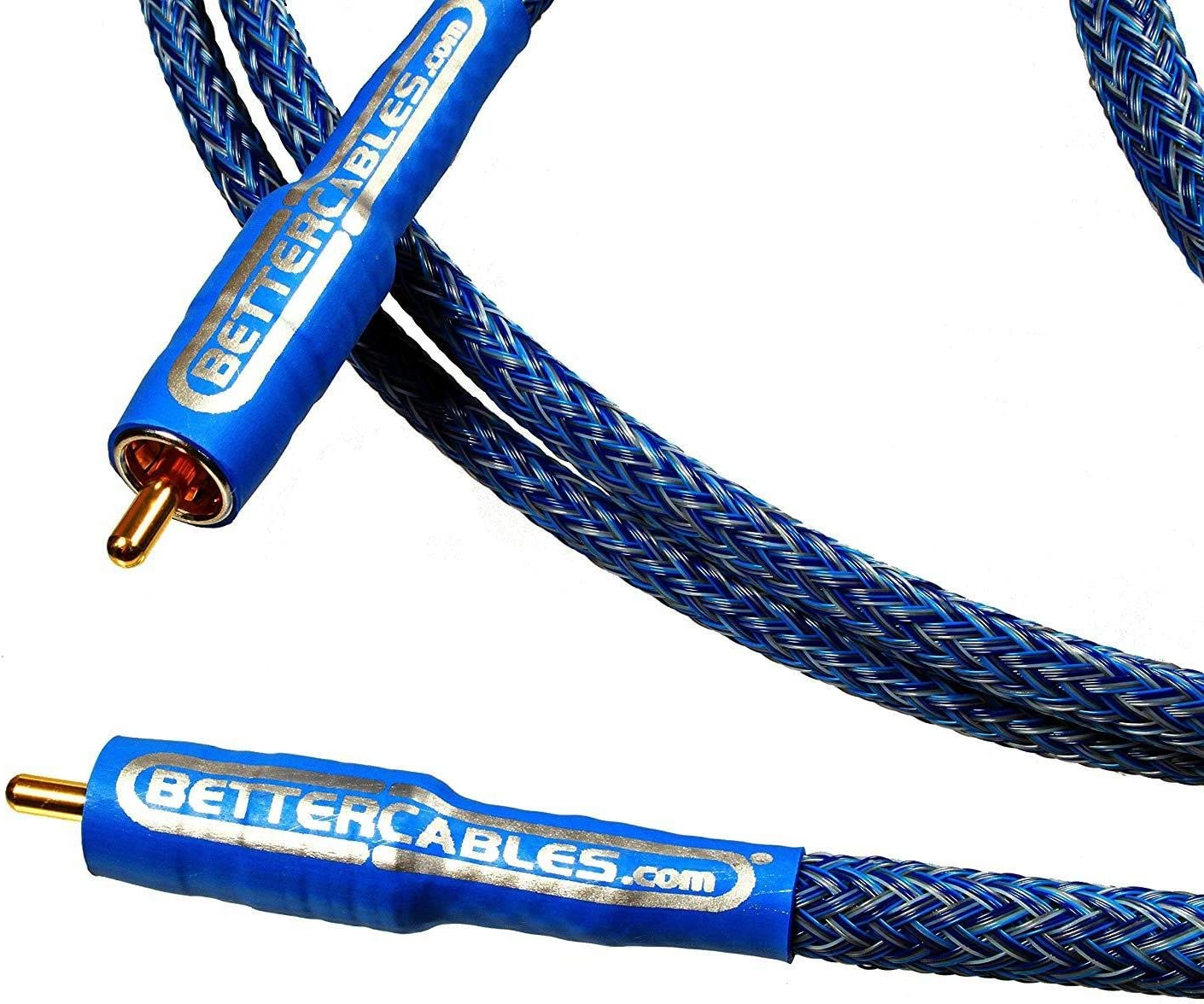 Better Cables Blue Truth Digital Coax Cable - High-End, High-Performance, Silver/Copper Hybrid, Low-Capacitance, Premium Coaxial Cable (RCA Cable) - 3 Feet