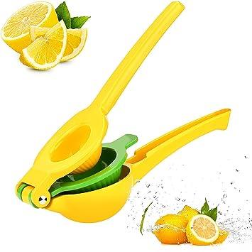 FUKTSYSM exprimidor de limón 2 en 1 de Metal para cítricos y limas, diseño Robusto
