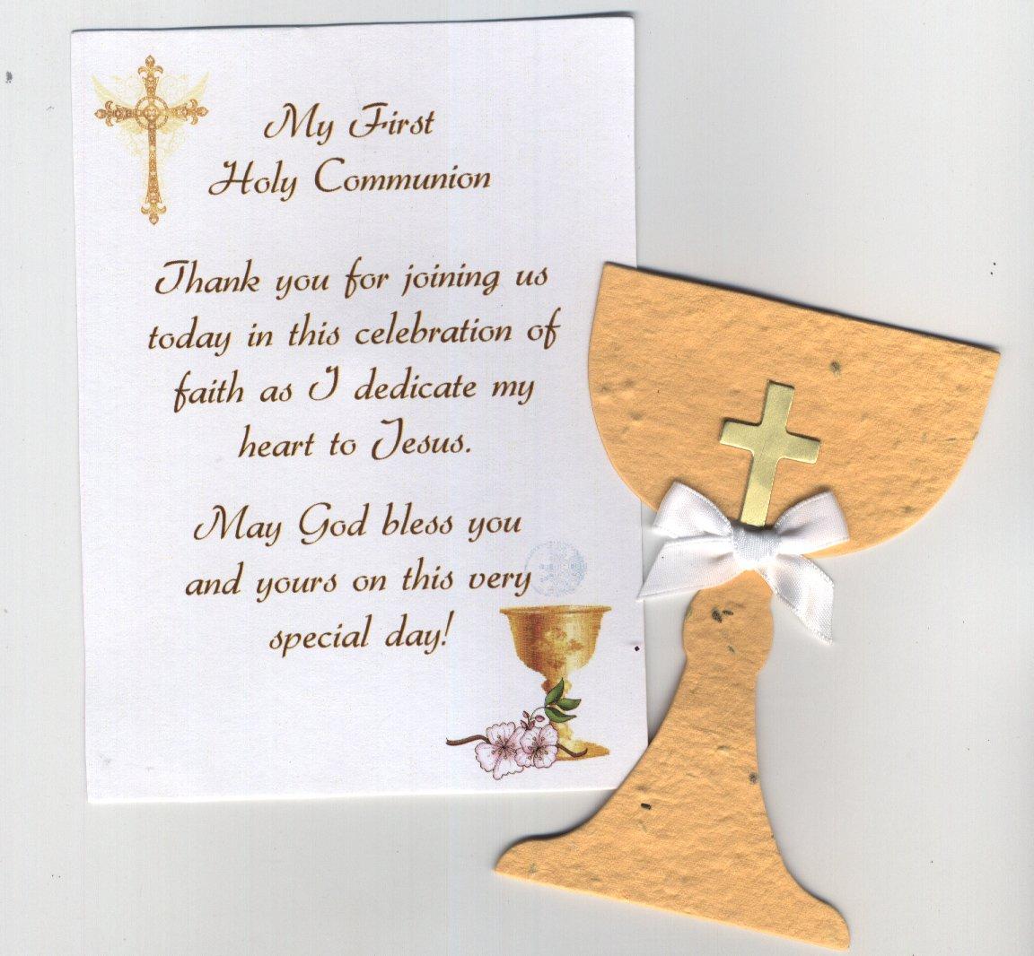 Amazon plantable holy communion favor gold home kitchen kristyandbryce Choice Image