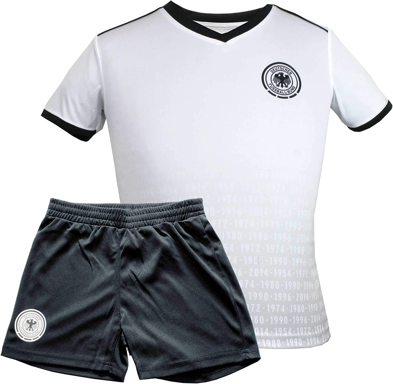MC Trend Original DFB Fußball Kinder Trikot Set • Alle EMWM Titel • Trikot & Hose Deutschland Nationalmannschaft Weltmeister