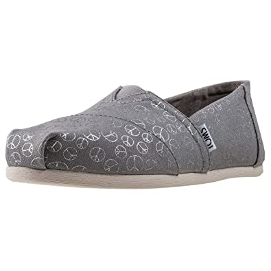 TOMS Womens Classic Slip-On (5 B(M) US, Drizzle Grey