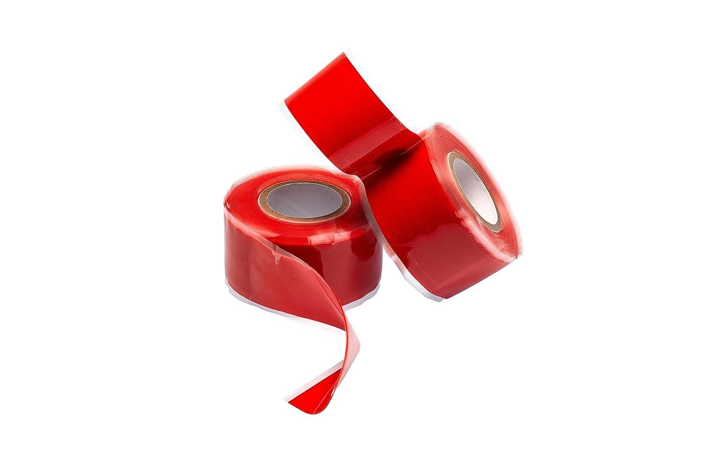 Gocableties 2 Rolls of Black Silicone Repair Tape - 3m x 25mm (1') - Premium Twin Pack - Self Adhesive Sealing Rubber Tape