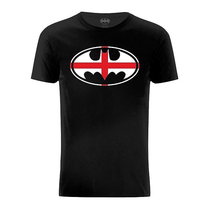 DC Comics - Camiseta con Logo de Batman Sobre Bandera de Inglaterra: Amazon.es: Ropa y accesorios
