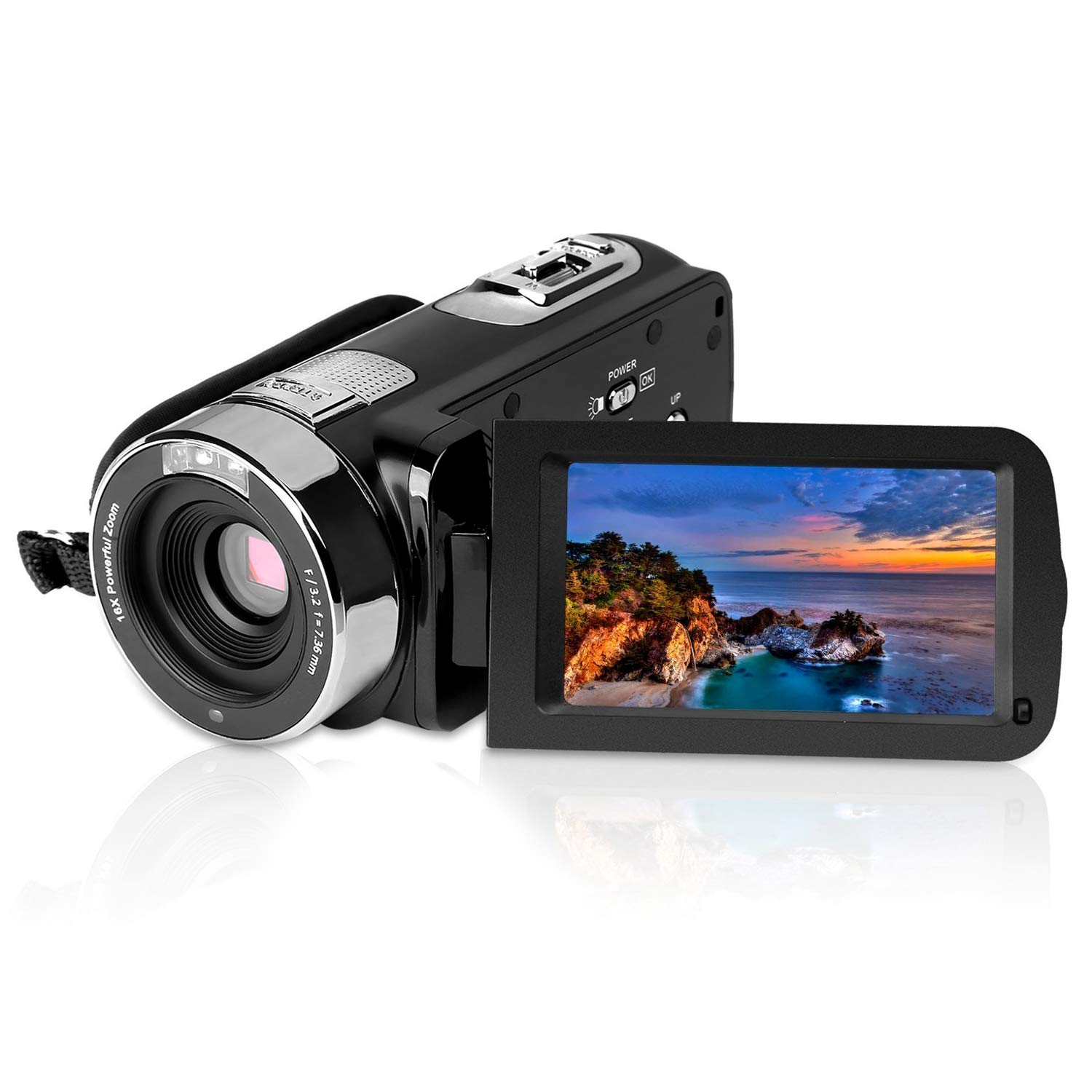 GordVE KG004 2.7'' LCD Screen Digital Video Camcorder Night Vision 24MP Camera HD Digital Camera