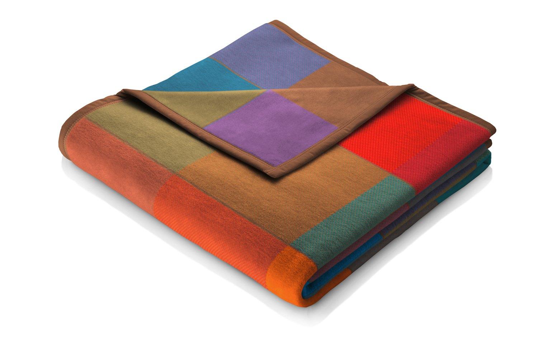 Multicolore biederlack Cotton Pure Coperta 100/% Cotone 200x150x1 cm Matrimoniale