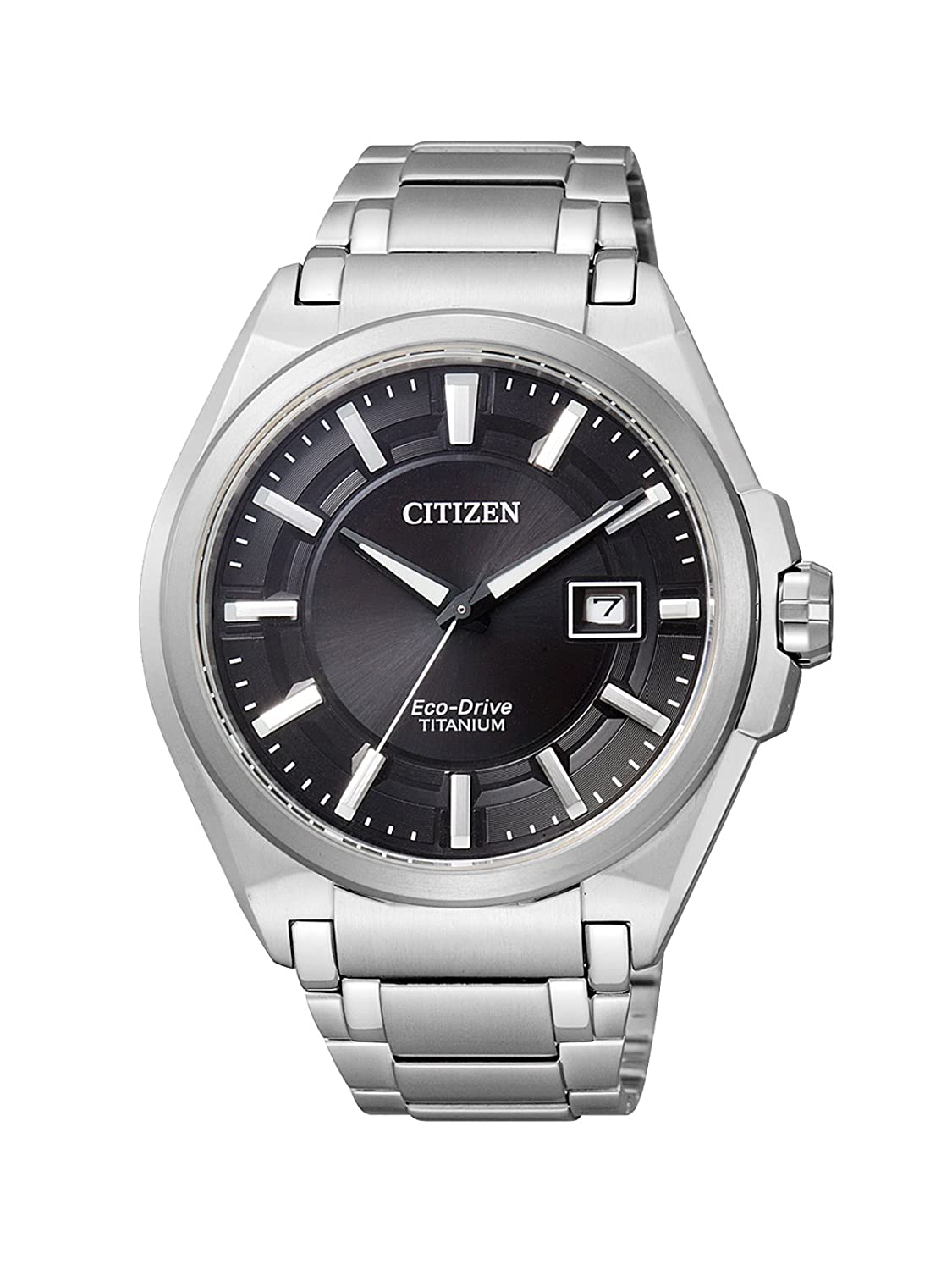 Amazon.com: Citizen Mens Eco-Drive BM6930-57E Silver Titanium Quartz Watch with Black Dial: Citizen: Watches