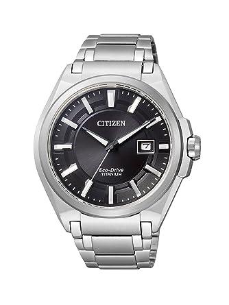 Citizen Super Titanium BM6930-57E - Reloj analógico de Cuarzo para Hombre, Correa de Titanio Color Plateado: Citizen: Amazon.es: Relojes