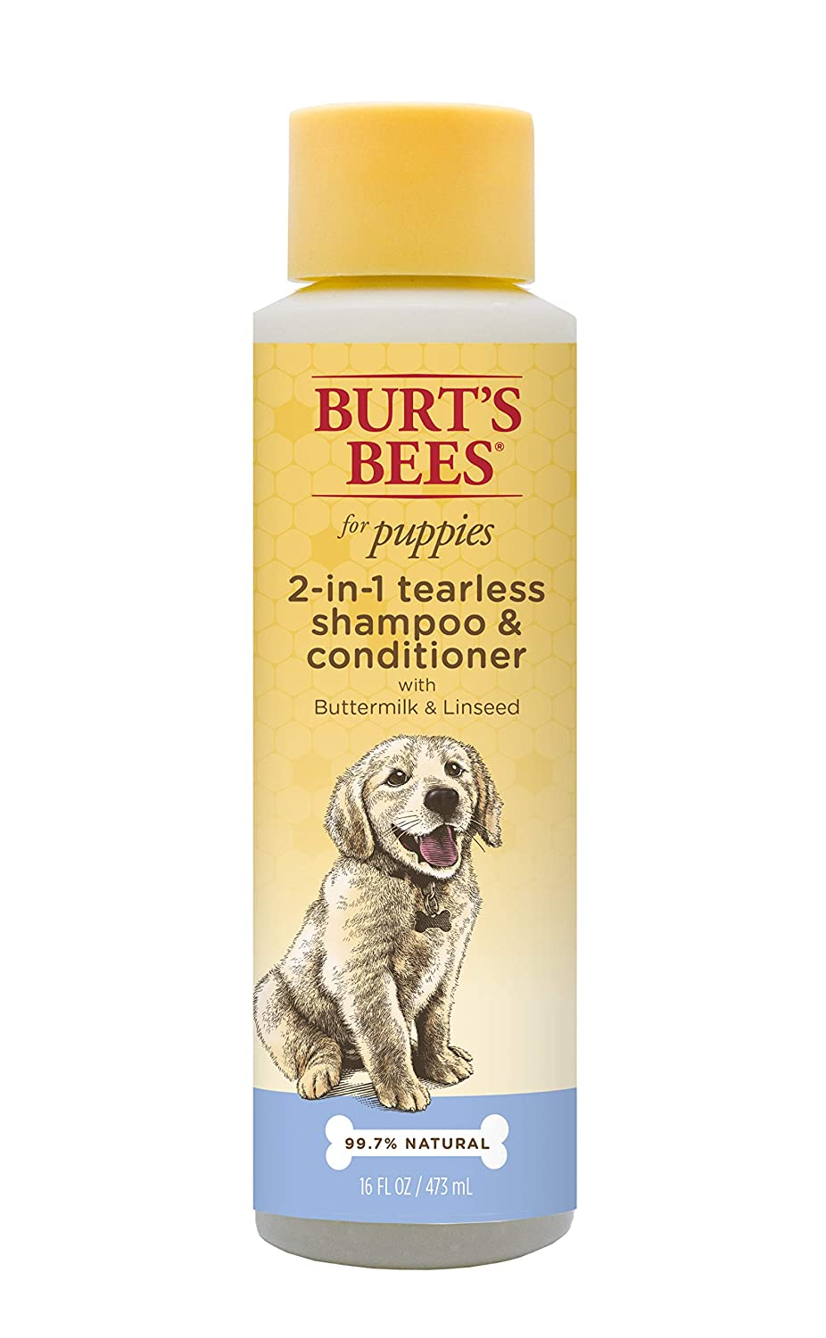 Burt's Bees for Dogs All-Natural Tearless 2 in 1 Puppy Shampoo and Conditioner with Buttermilk and Linseed Oil | Best Tear-Free Shampoo and Conditioner for All Dogs and Puppies for Gentle Fur 家猫 1 Pack B00CVTRO48  1 Pack