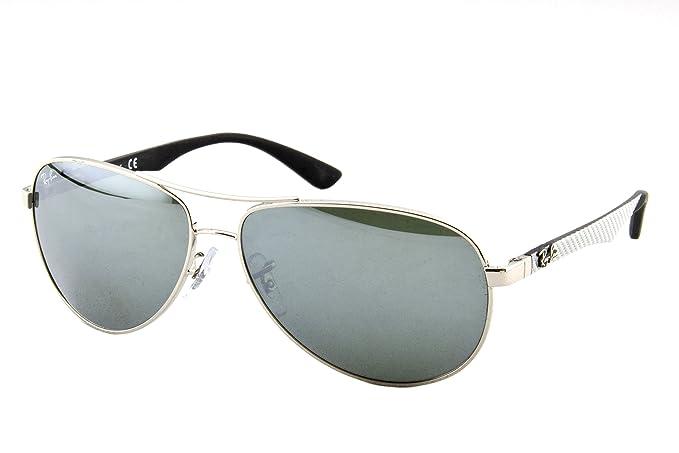 Ray-Ban Carbon Fibre Gafas de sol, Silver, 58 para Hombre ...