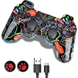 PS3 Controller, PS3 Controller Wireless,Playstation 3 Controller, Wireless PS3 Joystick Double Shock Gamepad Compatible…