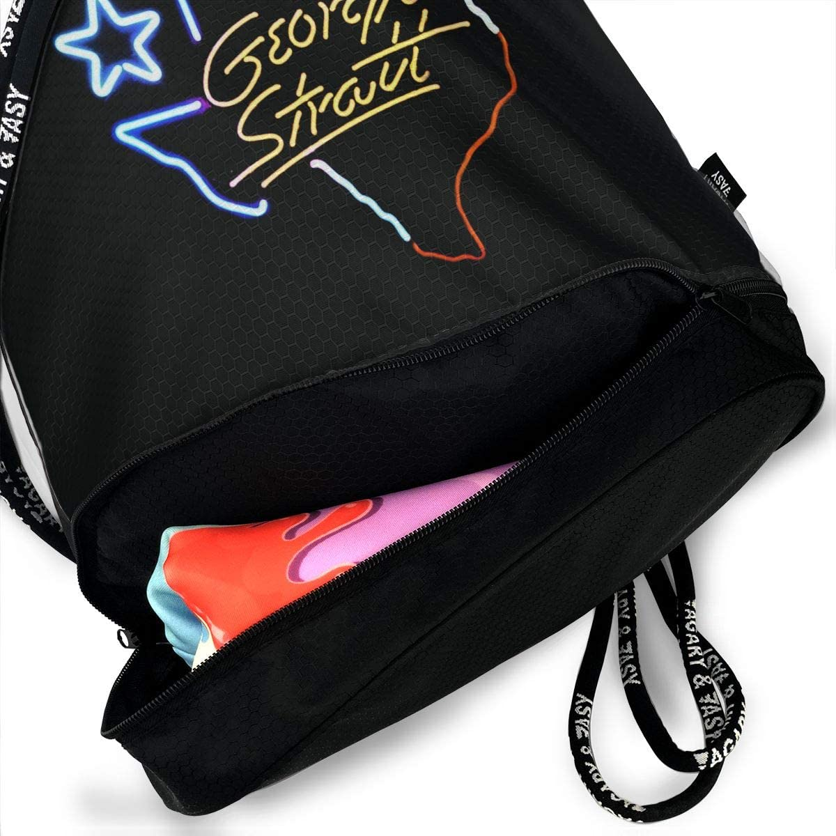 UUYYTZBHWB Sport Unisex Bundle Drawstring Backpack George Strait Travel Durable Gym Waterproof Multifunction Daypack