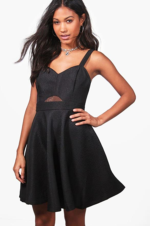Amazon.com: Boohoo Womens Aisha Strappy Prom Dress in Black size S: Clothing
