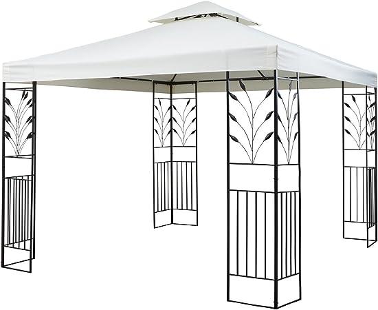 blumfeldt Odeon Beige Pavillon Carpa para Fiestas y jardín (3x3m, dieseño Decorativo, película Protectora, Resistente a Intemperie) - Crema Claro: Amazon.es: Jardín