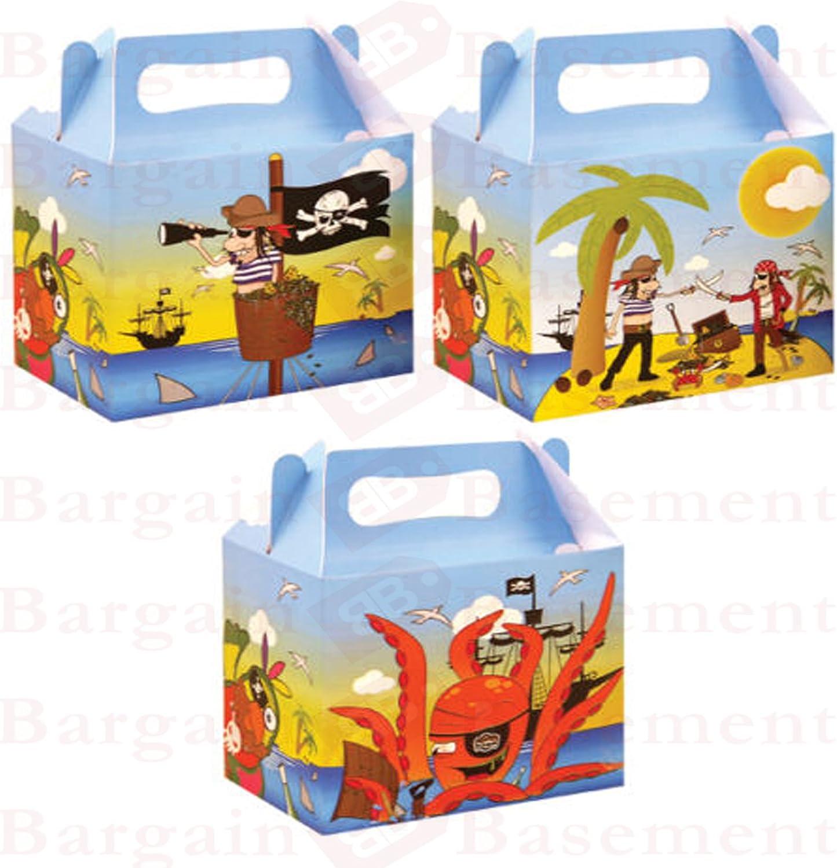 Fiesta fiambrera Pack de 6 fiambreras partido pirata cartón: Amazon.es: Juguetes y juegos