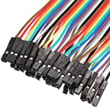 40x Demarkt 20cm Female to Female 2.54mm 0.1 in Jumper Wires Dupont Cable F/F