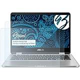 Bruni Schutzfolie für Asus VivoBook Flip 14 (TP401) Folie - 2 x glasklare Displayschutzfolie