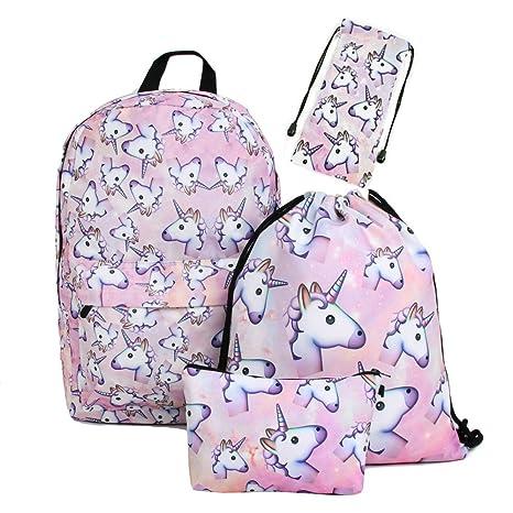 e4dc5add4a zaino unicorno Leah' fashion Fashion colorato cute happy 3d stampato ...