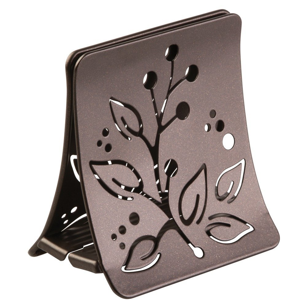 InterDesign Buco Napkin Holder for Kitchen Countertops, Table - Satin 95085