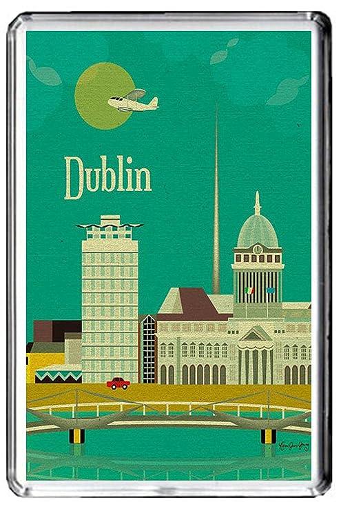 B377 Irlanda de Dublín Irlanda imán para nevera Vintage de viaje ...