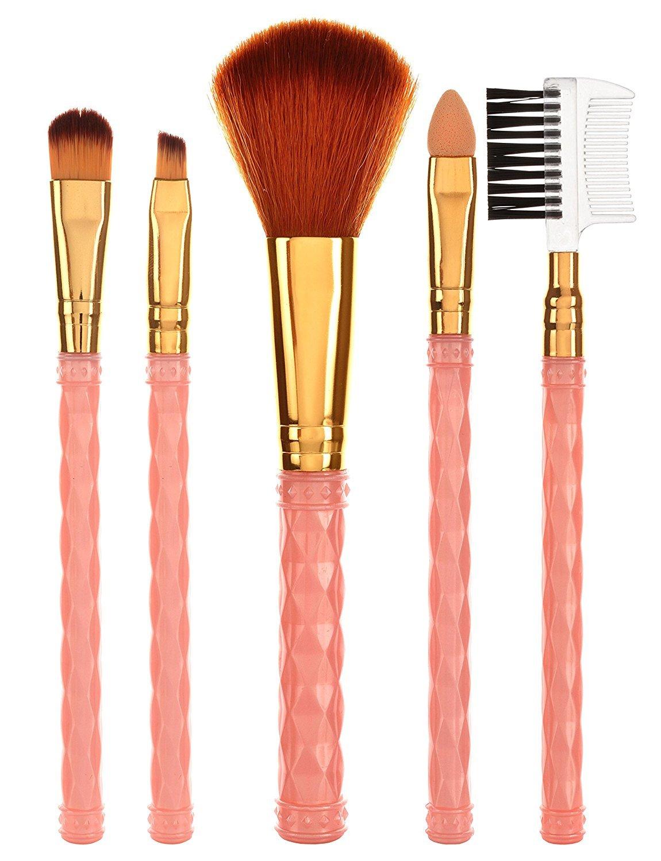 3179f69cf HILARY RHODA Professional Make-Up Brush Set - Pack of 5: Amazon.in: Beauty