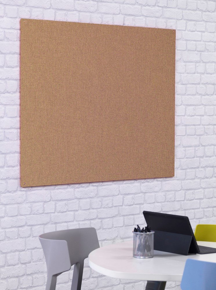 EYFS Nursery Natural Hessian Style Display Notice Board Unframed 900 x 600mm Office Needs Direct